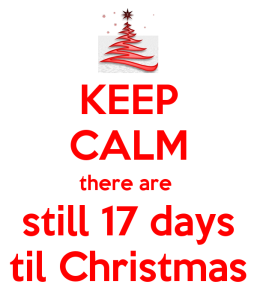 17 days until Christmas