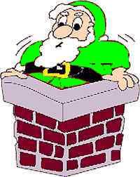 Santa in GREEN.